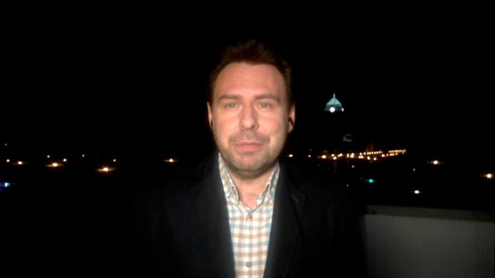 """Кадр из программы """"60 минут"""". Александр Балицкий"""
