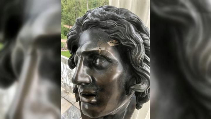 Юный посетитель Царского Села уронил бюст умирающего гиганта