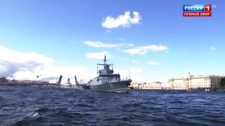 Главный военно-морской парад отметился новыми кораблями и технологиями съемки