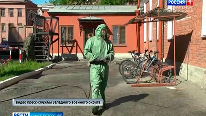 В военных академиях и училищах Петербурга провели тотальную дезинфекцию