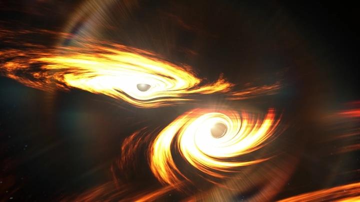 Астрономы обнаружили эхо удивительного столкновения чёрных дыр.