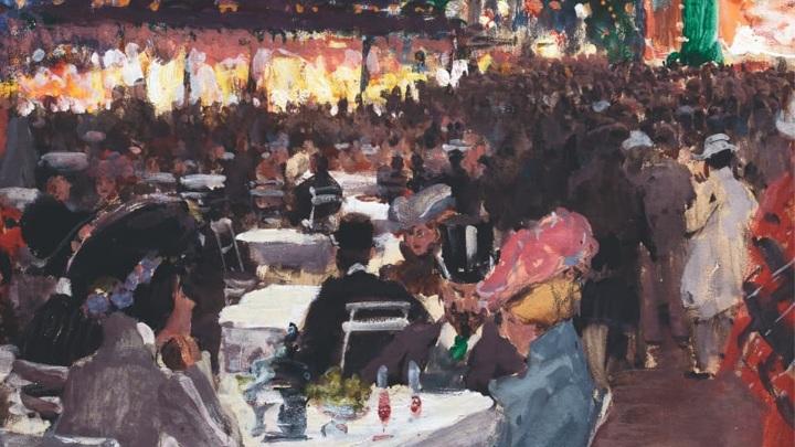 С.А. Виноградов. Кафе ночью. 1901 / Музей русского импрессионизма
