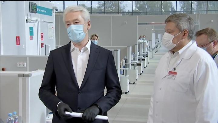 Мэр Москвы открыл резервный коронавирусный госпиталь в Сокольниках