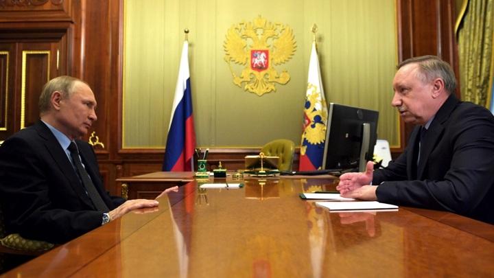 Путин провел встречу с губернатором Петербурга Бегловым