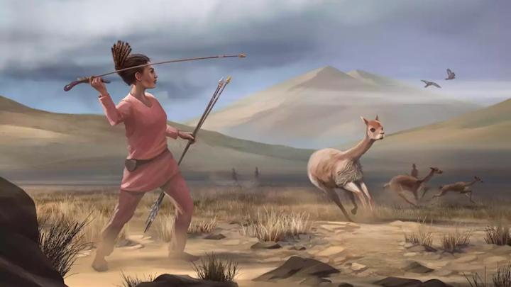 В доисторической Америке женщины охотились наравне с мужчинами, заявляют исследователи.