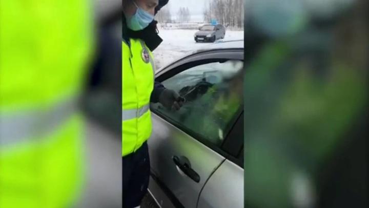 """Инспекторы ДПС оставили на трассе супругу и детей """"юридически подкованного"""" водителя"""