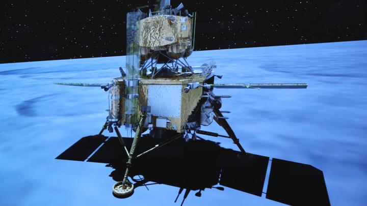 Китайский зонд с образцами лунного грунта успешно стартовал с Луны.