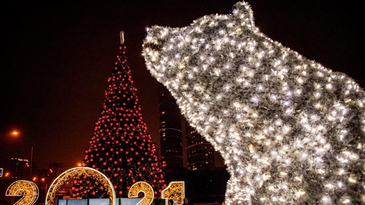Новогодние световые конструкции простоят на улицах столицы до 1 апреля