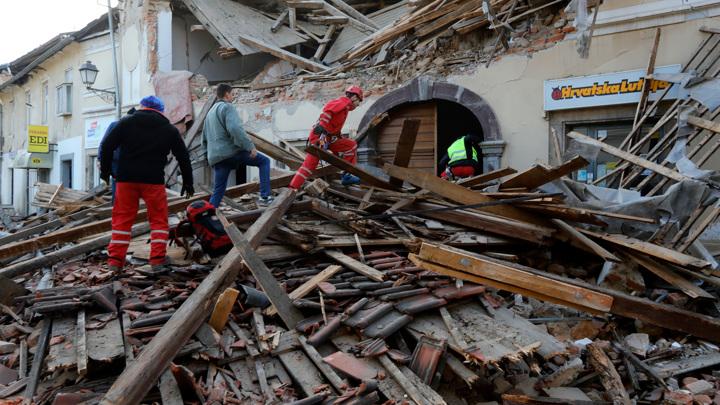 В результате землетрясения в Хорватии погибли семь человек