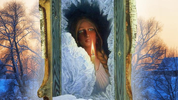 "коллаж / картина К. Васильева ""Ожидание"", 1974 год"
