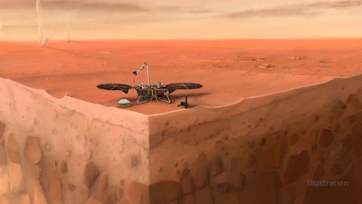 """Спасти """"Крота"""" не удалось, но аппарат """"Инсайт"""" продолжает изучать марсианские недра."""