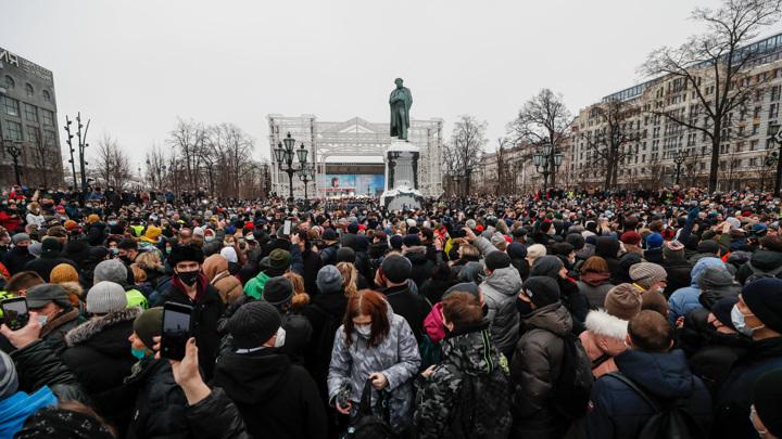 Несогласованная акция вылилась в пробки в центре Москвы