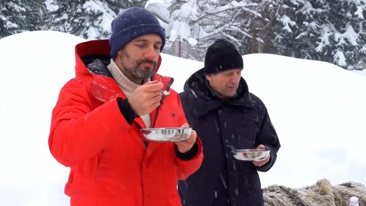 Приключения итальянца в Кузбассе. Блогер отведал мороженое из снега