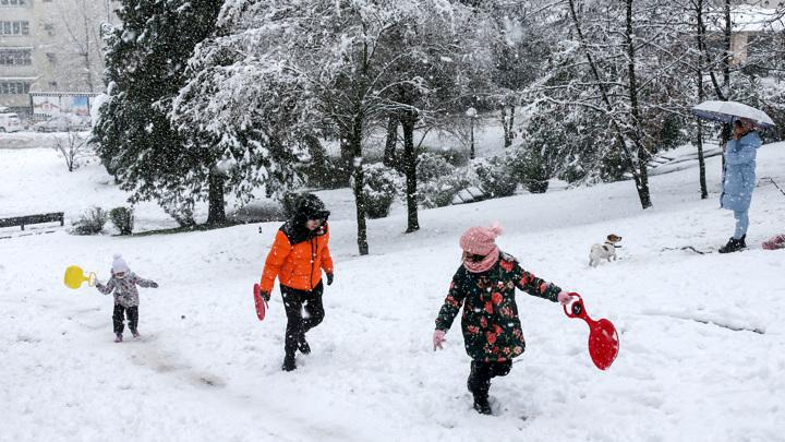 Сибирская зима на русском юге