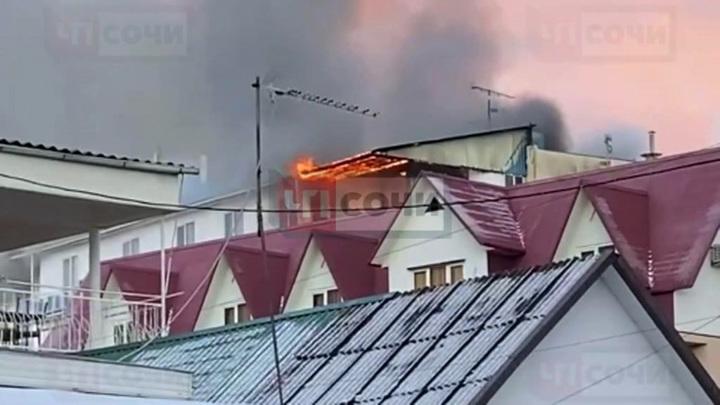 В Сочи произошел пожар в гостинице