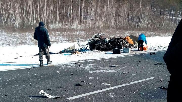 ДТП на амурской трассе: трое погибших, от машины осталась груда металла
