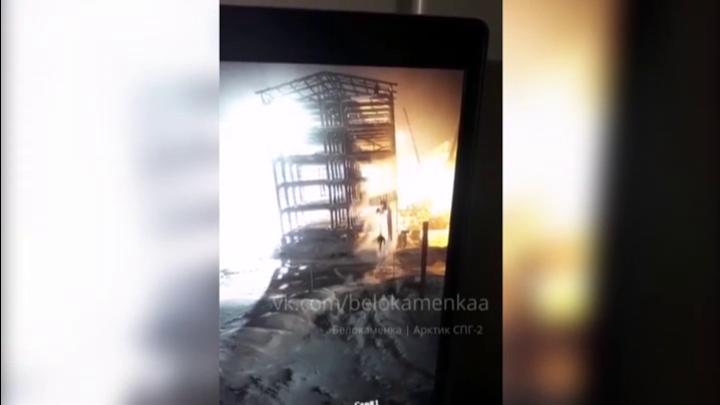 На видео попало обрушение подъемника в Мурманской области