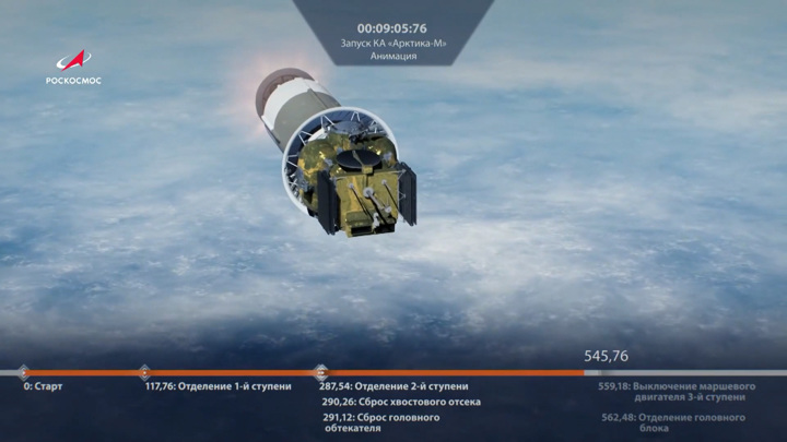"Спутник ""Арктика-М"", запущенный с Байконура, выведен на орбиту"