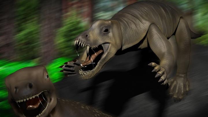 Антеозавры были грозными и проворными хищниками.