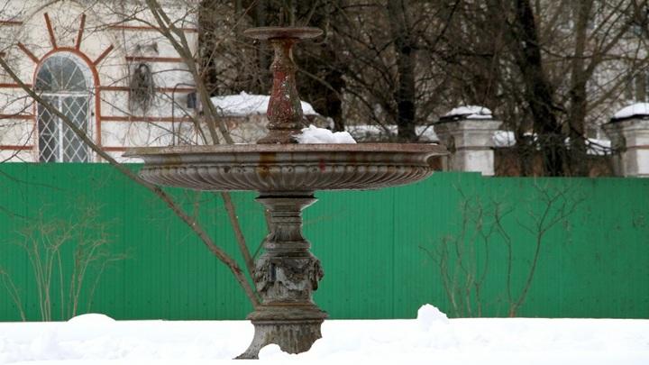 В Рыбинске реставрируют старейший фонтан