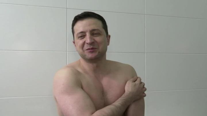 Диктатор Зеленский отвоевал грудь у волос