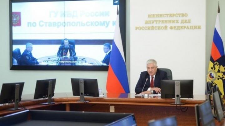 Глава МВД Колокольцев представил ставропольской полиции нового начальника