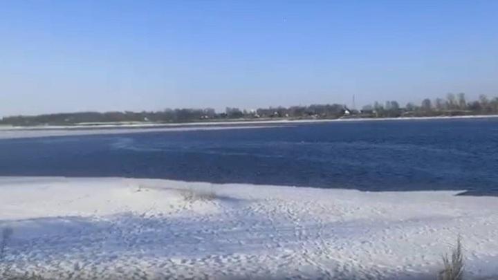 В Рыбинске спасатели сняли с льдины двух 11-летних детей