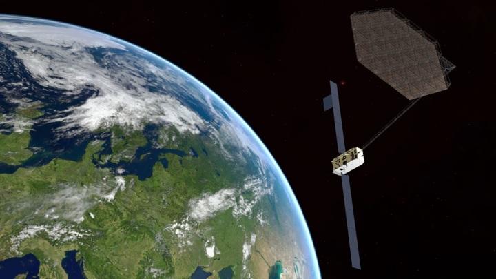 Новая технология позволит сооружать на орбите большие антенны и другие конструкции.