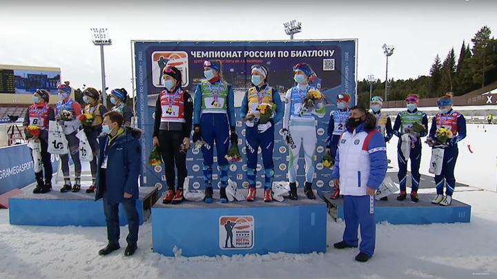 Биатлонистки Югры выиграли эстафету на чемпионате России