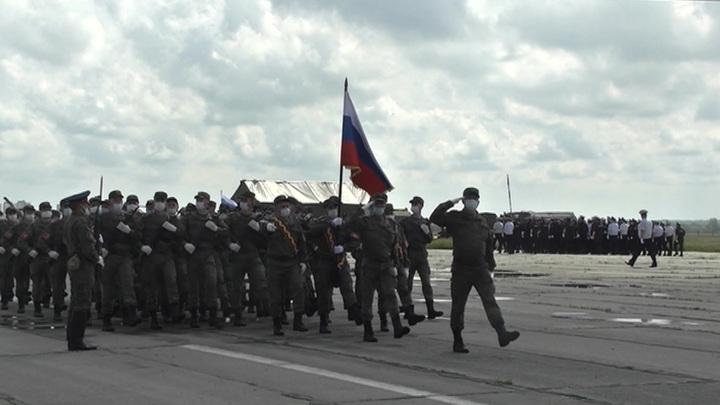 В Подмосковье проходит первая репетиция парада Победы