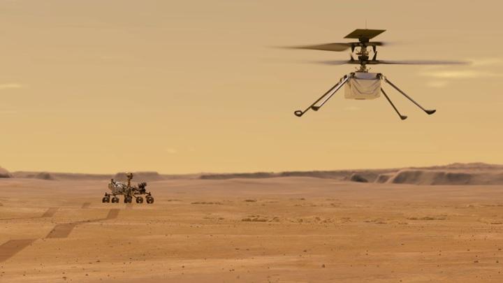 Марсианский вертолёт вскоре поднимется в небо.