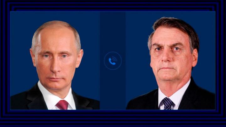 Путин и Болсонар обсудили вопросы сотрудничества в борьбе с COVID-19