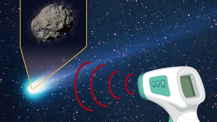 Телескоп измерил инфракрасное излучение кометы, словно бесконтактный термометр.