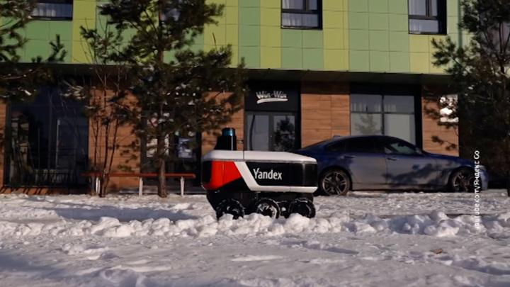 """Роботы-курьеры """"Яндекса"""" пошли по магазинам"""