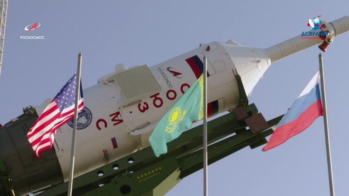 """Ракета """"Союз-2.1а"""" с кораблем """"Ю. А. Гагарин"""" стартовала с Байконура"""