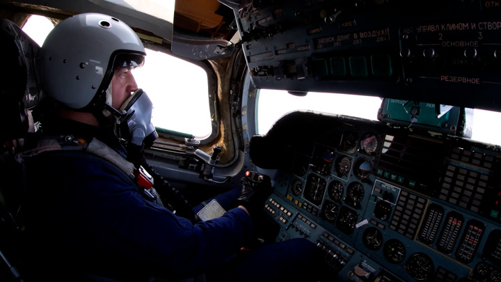 Тренировка воздушной части Парада Победы. Видео