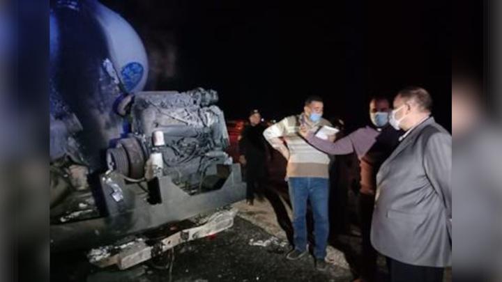 В Египте 22 человека погибли при столкновении автобуса с бензовозом