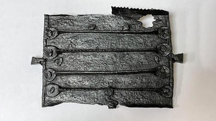 Скребница похожа на современные инструменты, используемые для чистки и расчёсывания лошадей.