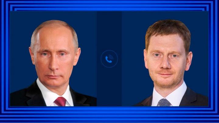 Путин подтвердил готовность к сотрудничеству с Германией в области вакцин