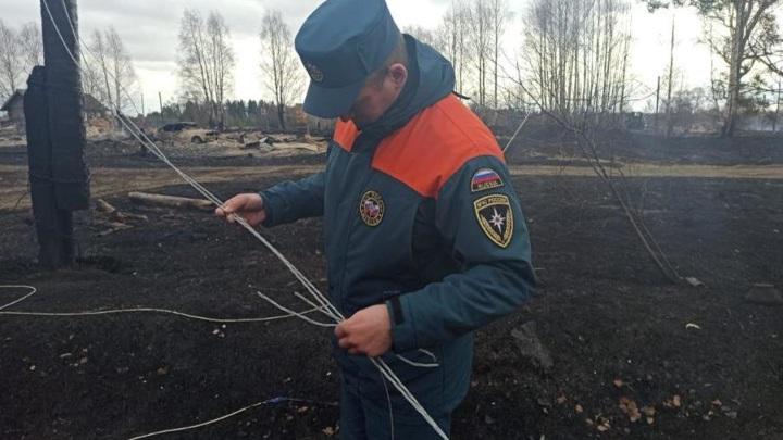 Причиной пожаров, уничтоживших 18 домов в Поморье, стали аварии наэлектросетях