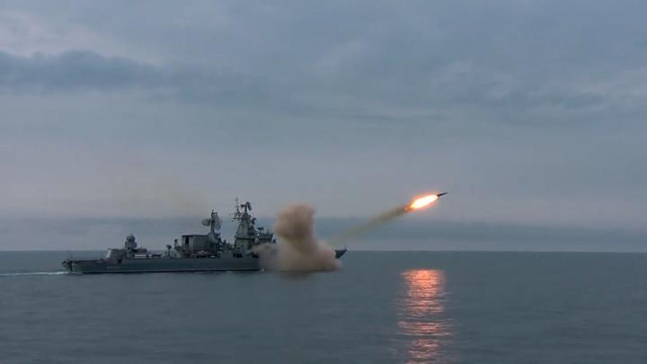 """Крейсер """"Москва"""" впервые запустил ракету """"Вулкан"""". Видео"""