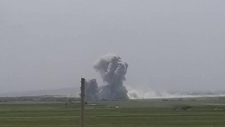 Беспилотник-камикадзе атаковал оружейный склад боевиков в Сирии