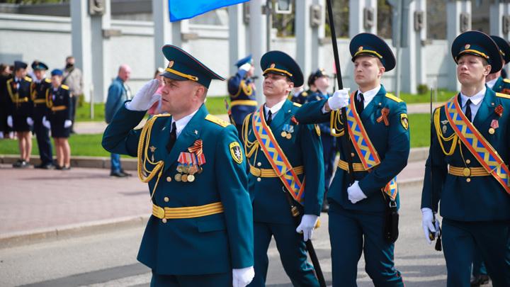 В Липецке прошла репетиция Парада Победы