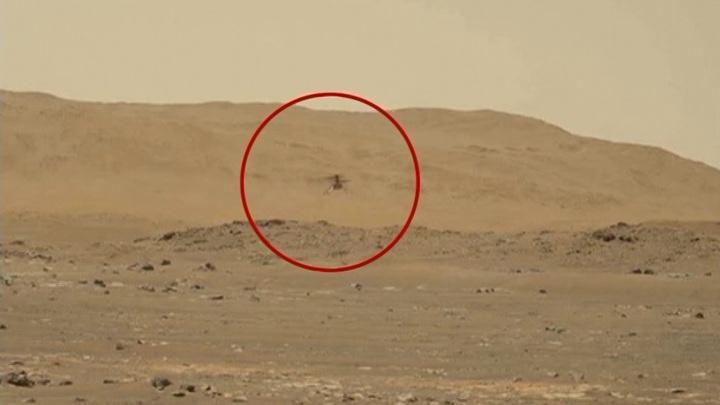 Первый перелет марсианского вертолета