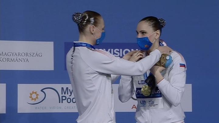 Российские синхронистки завоевали золото среди дуэтов на Евро-2021