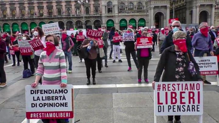 В Италии акция против дискриминации ЛГБТ закончилась стычками с полицией