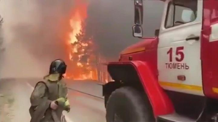 Движение на трассе Екатеринбург – Тюмень восстановлено после пожара