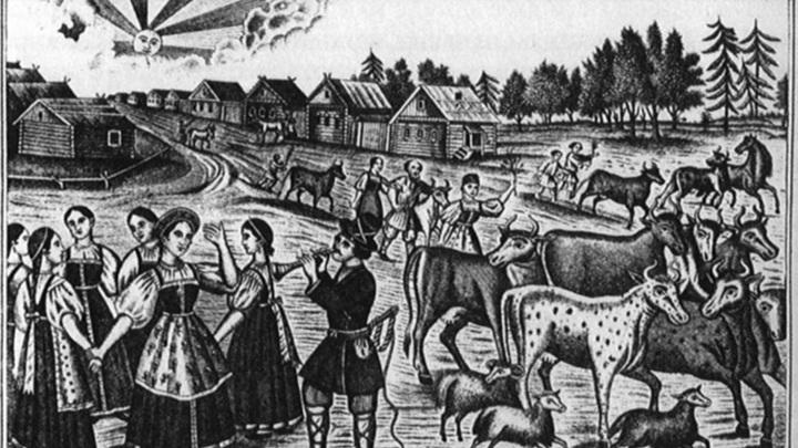 """Лубок """"Егорий вешний"""". XIX век / Общественное достояние"""