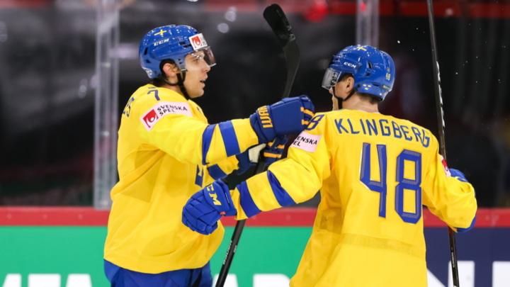 Чемпионат мира. Шведы забросили семь безответных шайб в ворота Швейцарии