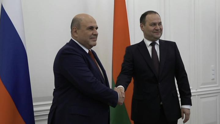 Михаил Мишустин прилетел в Минск и выразил позицию России